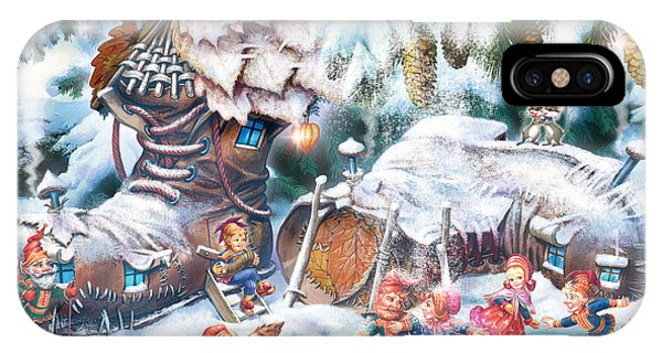 Winter Fun iPhone Case - Sami Leprechauns by MGL Meiklejohn Graphics Licensing