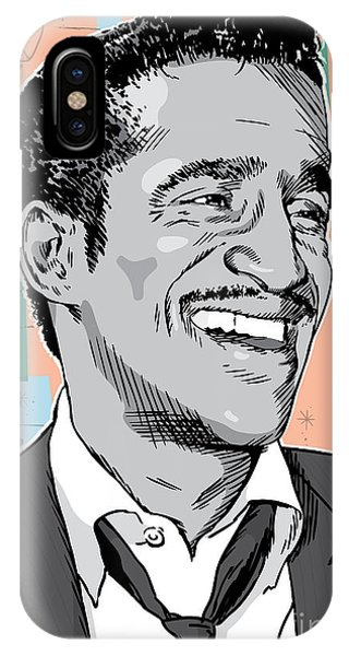 Retro iPhone Case - Sammy Davis Jr Pop Art by Jim Zahniser