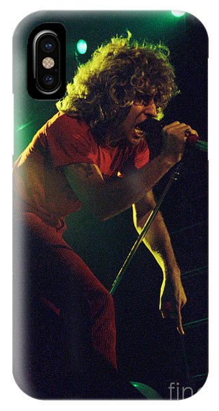 Sammy Hagar New Years Eve At The Cow Palace 12-31-78 IPhone Case