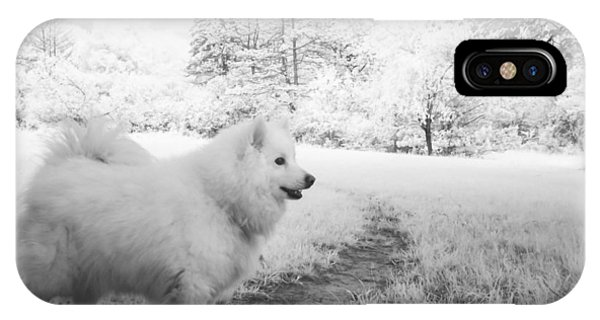 Samoyed In Ir Phone Case by Eric Peterson