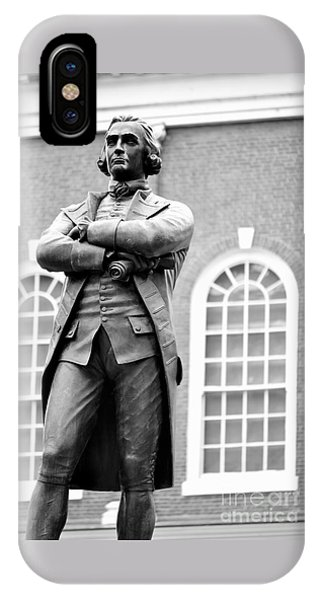 Samuel Adams Statue State House Boston Ma Black And White IPhone Case