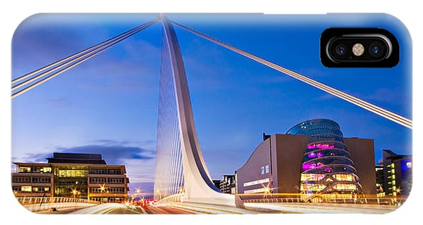 IPhone Case featuring the photograph Samuel Beckett Bridge And National Conference Centre / Dublin by Barry O Carroll