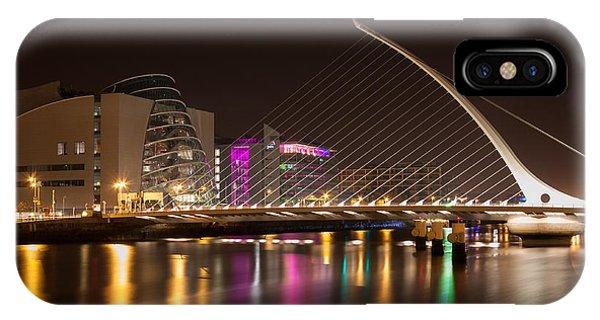 Samuel Beckett Bridge In Dublin City IPhone Case