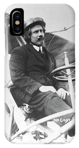 1862 iPhone Case - Samuel Franklin Cody In His Biplane by Universal History Archive/uig