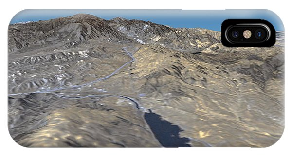 San Gabriel Mission iPhone Case - San Andreas Fault by Nasa/science Photo Library