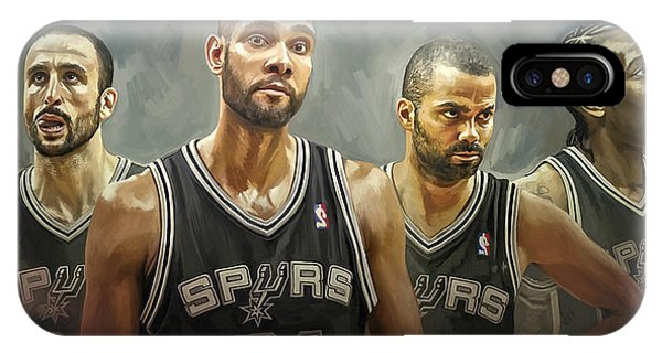 Basketball iPhone Case - San Antonio Spurs Artwork by Sheraz A