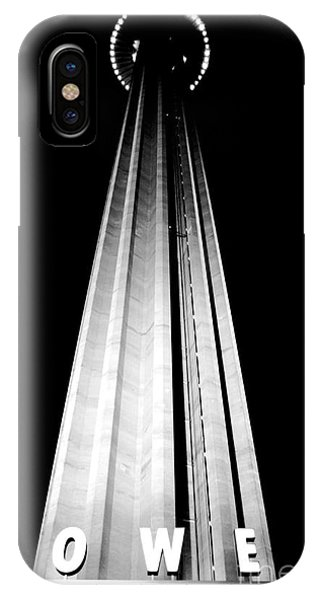 San Antonio Tower Of The Americas Hemisfair Park Space Needle Tower Restaurant Black And White IPhone Case