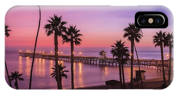 San Clemente Sunset Meditation IPhone Case