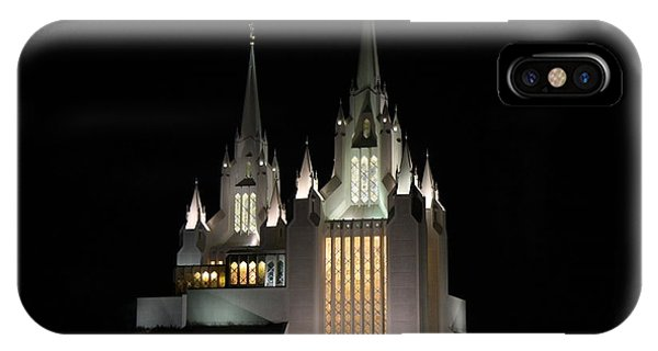 San Diego Mormon Temple At Night IPhone Case