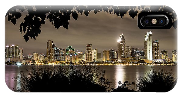 San Diego Skyline Framed 2 IPhone Case