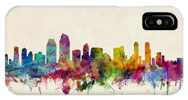 United States iPhone Case - San Diego Skyline by Michael Tompsett