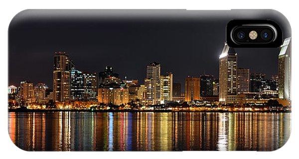 Coronado iPhone Case - San Diego Skyline Panorama by Art K