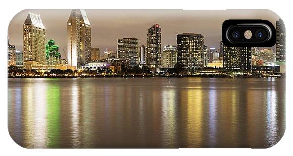 San Diego Skyline Panoramic 2 IPhone Case
