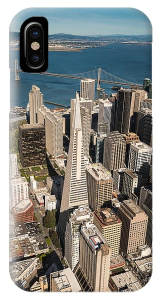 Helicopter iPhone X Case - San Francisco Aloft by Steve Gadomski