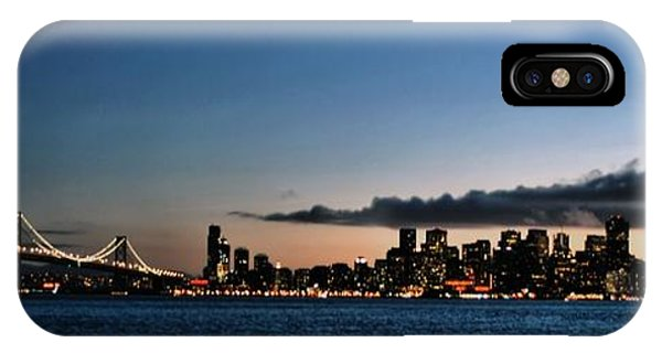 San Francisco And The Bay Bridge IPhone Case