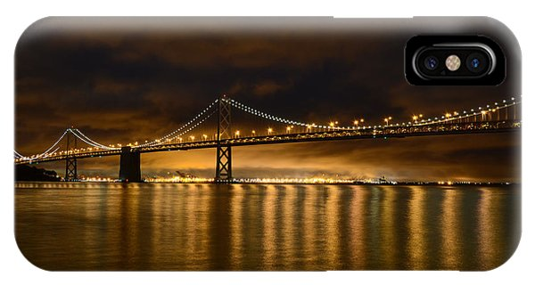 San Francisco - Bay Bridge At Night IPhone Case