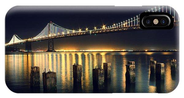 Bay Bridge iPhone Case - San Francisco Bay Bridge Illuminated by Jennifer Ramirez