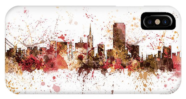 San Francisco iPhone Case - San Francisco California City Skyline by Michael Tompsett