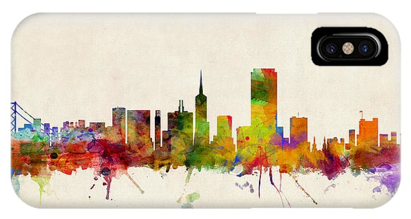 Skyline iPhone Case - San Francisco City Skyline by Michael Tompsett