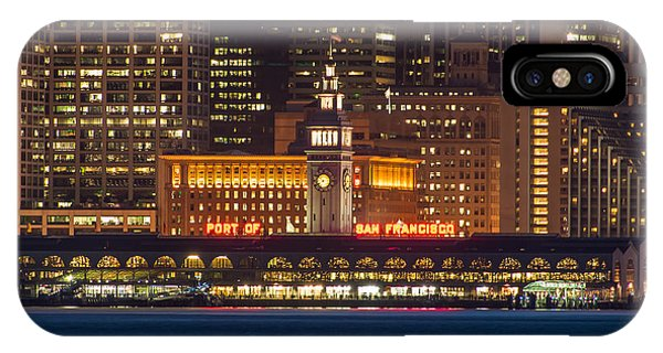 San Francisco Ferry Building At Night.  IPhone Case