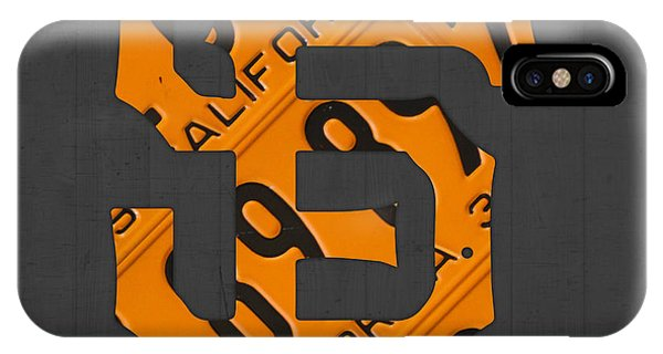 California iPhone Case - San Francisco Giants Baseball Vintage Logo License Plate Art by Design Turnpike