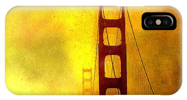 San Francisco Golden Gate Bridge Commute In Sun And Fog IPhone Case