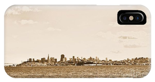 San Francisco In Sepia IPhone Case