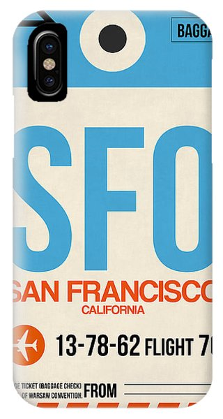 San Francisco iPhone Case - San Francisco Luggage Tag Poster 1 by Naxart Studio