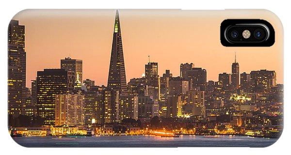 San Francisco Skyline Late Evening IPhone Case