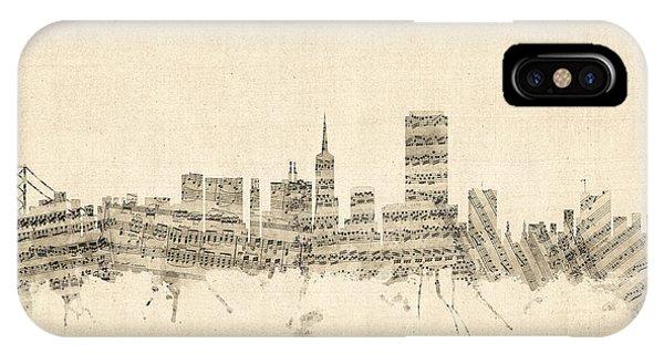 San Francisco Skyline Sheet Music Cityscape IPhone Case