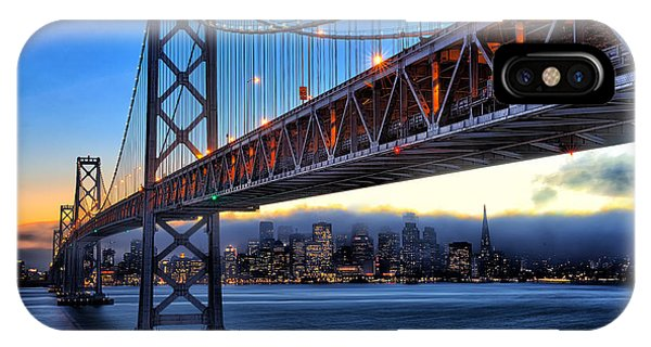San Francisco Skyline Under The Bay Bridge IPhone Case