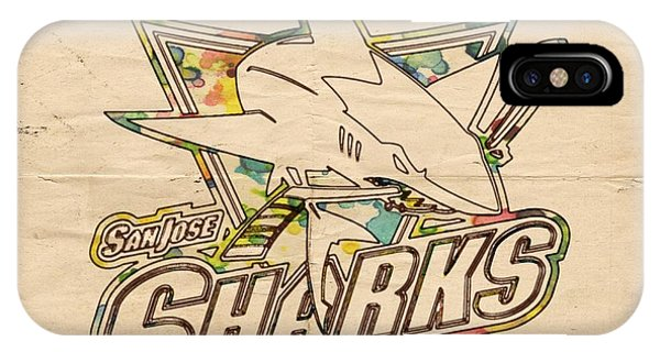 San Jose Sharks Vintage Poster IPhone Case