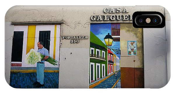 IPhone Case featuring the photograph San Juan - Casa Galguera Mural by Richard Reeve