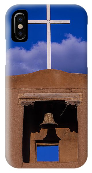 San Miguel iPhone Case - San Miguel's White Cross by Garry Gay