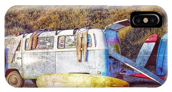 Vw Bus iPhone Case - The Surfing Life by Hal Bowles