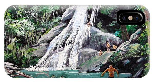 San Sebastian Waterfall IPhone Case