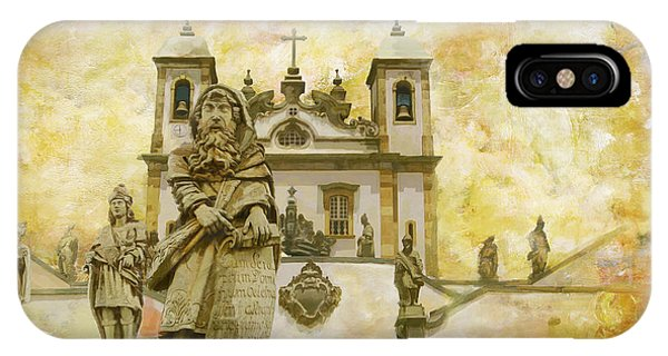 San Miguel iPhone Case - Sanctuary Of Bom Jesus Do Congonhas  by Catf