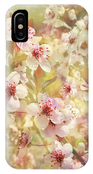 Sand Cherry Flourish IPhone Case