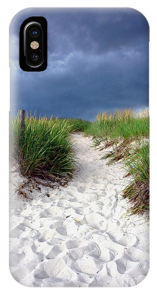 Sand iPhone Case - Sand Dune Under Storm by Olivier Le Queinec