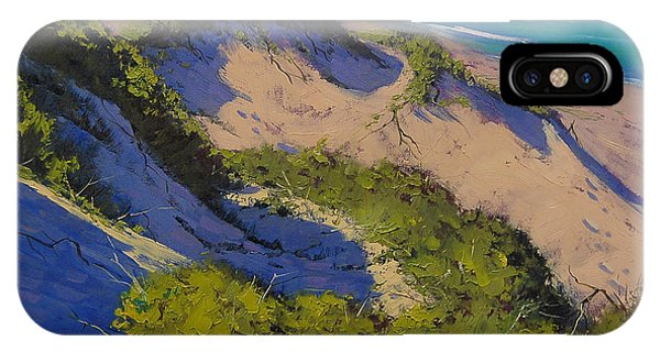 Dunes iPhone Case - Sand Dunes Oil Painting by Graham Gercken
