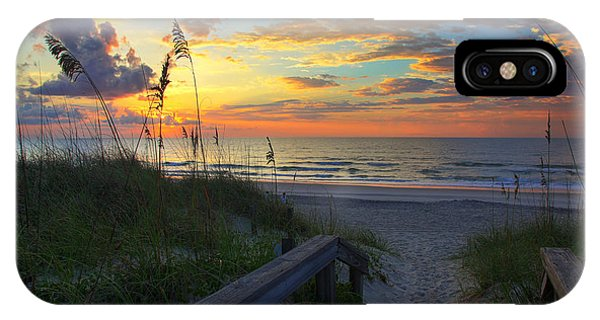 Sand Dunes On The Seashore At Sunrise - Carolina Beach Nc IPhone Case