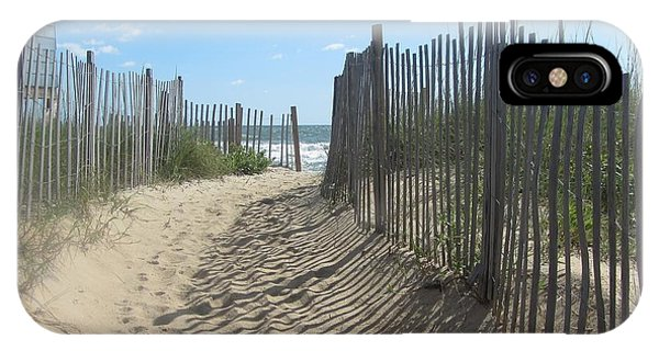 Sand Fence At Southern Shores  IPhone Case
