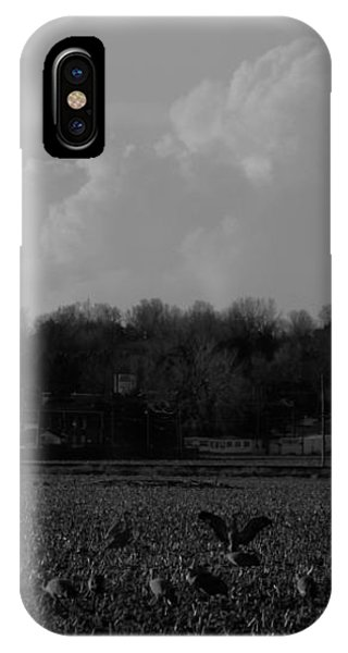 Sand Hill Cranes With Nebraska Thunderstorm IPhone Case