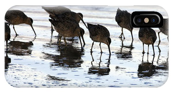 Sand Pipers Reflected IPhone Case