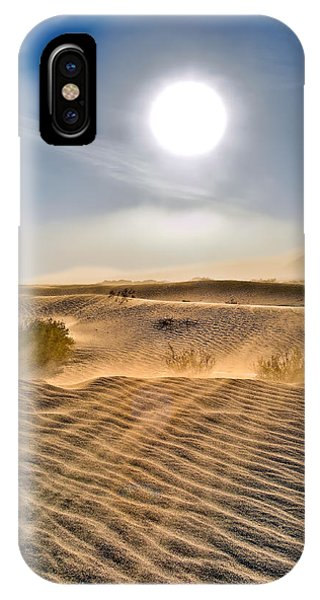 Sand Storm In The Mesquite Dunes 2 IPhone Case