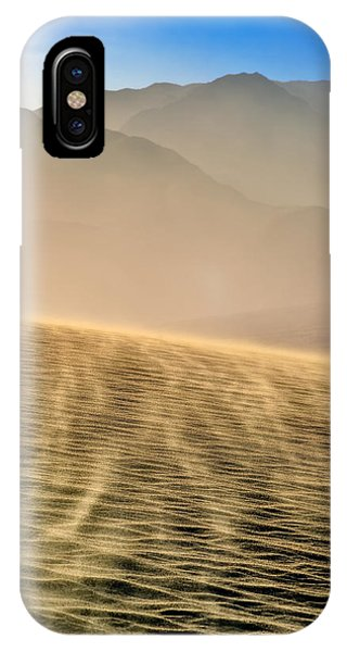 Sand Storm In The Mesquite Dunes IPhone Case
