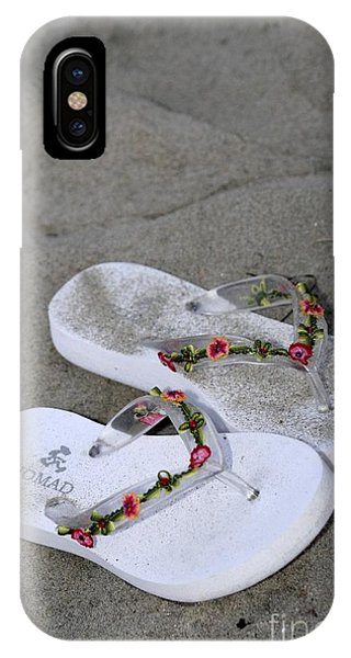 Sandals In The Sand Phone Case by Laura Paine
