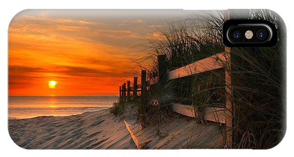 Fence iPhone Case - Sandbridge Sunrise by Doug Roane