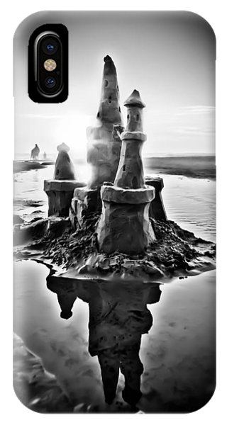 Sandcastle In Black And White IPhone Case