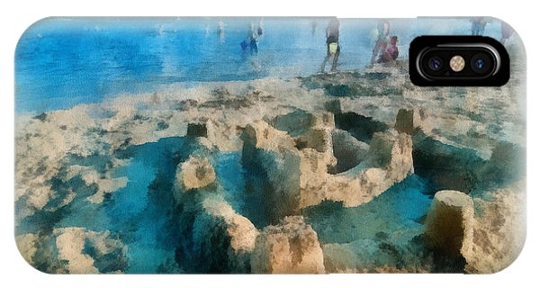 Having Fun iPhone Case - Sandcastle On The Beach by Amy Cicconi